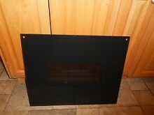 AMANA  AO24SE2  stove black oven door glass R0758002  18 5 8 x 22 3 4