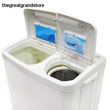 Portable Compact Washer   Spin Dry Cycle with Built in Pump 33L Washer 16L Dryer
