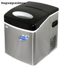 Newair AI 215SS Stainless Steel Portable Ice Maker w  50 Lbs  Daily Capacity Day
