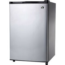 Igloo 4 5 cu  ft  Refrigerator and Freezer  Stainless Steel