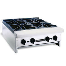 American Range ARHP 12 2 Counter Top Natural Gas Hot Plate W  2 Open Burners