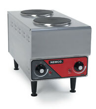 Nemco 6311 1 240 Raised Vertical Double Burner Electric Range   Hot Plate