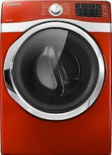 Samsung DV435ETGJRA 27  Red Front Load Electric Dryer NIB  9674