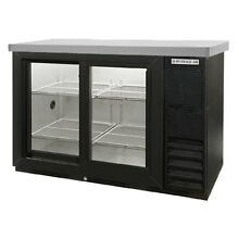 Beverage Air 48  2 Sliding Glass Door Backbar Storage Cabinet Black