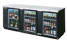 Beverage Air 94  Three Section Glass Door Bar Cooler W  S S Exterior