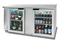 Beverage Air 69  Two Section Backbar Glass Door Cooler W  S S Exterior