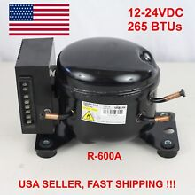 12V 24V DC Refrigeration Compressor Fridge Freezer Mobile Solar QDZY43G R600a