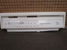 Whirlpool Dishwasher Control Panel  White  w Overlay 8522137