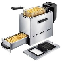 Princess Stainless Steel Deep Fryer with Warming Drawer