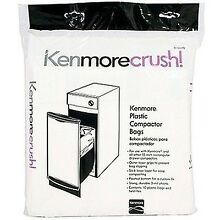 60ct Plastic Trash Compactor Bags for KENMORE GE FRIGIDAIRE WHIRLPOOL MAYTAG