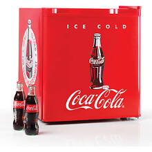 Nostalgia CRF170COKE Coca Cola 1 7 cu  Ft  Refrigerator with Freezer Compartmen