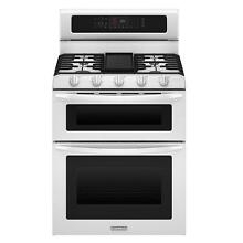 KitchenAid KGRS505XWH 30  Freestanding White Double Oven Gas Range NEW  4505