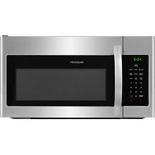 Frigidaire 1 6 Cu  Ft  1000 Watts Over The Range Microwave in Stainless Steel