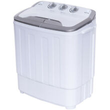 Compact Mini Twin Tub 13lbs Washing Machine Washer Spin Spinner Gray
