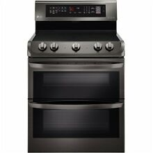 LG LDE4413BD 30  Black Stainless Dual Oven Electric Range 7 3 CuFt  NIB