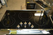 GE JP3536SJSS 36  Stainless Smoothtop Electric Cooktop NOB  15910