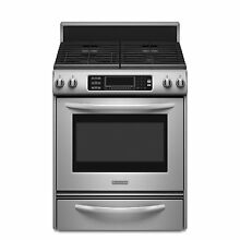 KitchenAid KDRS807SSS 30  Stainless Dual Fuel Convection Range NIB  6898 HL