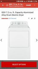 GE 7 2 cu  ft  Electric Dryer in White Brand New