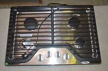 Whirlpool WCG75US0DS 30  Stainless Gas Cooktop w 4 Burners  6174 NOB T2