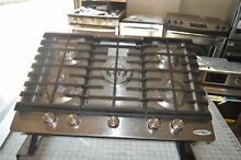 KitchenAid KCGS550ESS 30  Stainless Built In Gas Cook Top NOB   18205