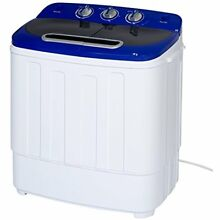 Portable Compact Mini Twin Tub Washing Machine And Spin Cycle W  Hose  13lbs