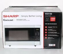 Sharp R 331ZS Carousel Microwave Oven 1 1 cu  ft  1000 Watt Stainless Steel  W45