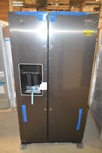 Whirlpool WRS588FIHV 36  Black Stainless Side by Side Refrigerator  18985 T2 CLW