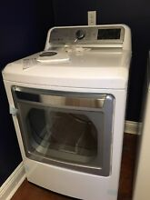 LG 7 3 cu  ft  Ultra Large Capacity TurboSteam Electric Dryer with LG EasyLoad D