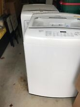 White  4 5 cu  ft  LG High Efficiency Top Load Washer w  Matching LG Dryer