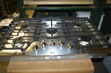 LG LCG3611ST 36  Stainless Gas 5 Burner Cooktop NOB  19580