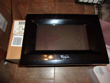 WHIRLPOOL GENUINE OEM BLACK MICROWAVE OVEN DOOR 8184259 FITS MODELS LISTED BELOW