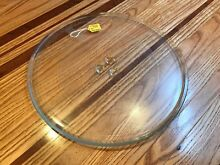 GE MICROWAVE OVEN GLASS COOKING TRAY   PART  WB49X10129  AP3793663    12 5  NICE