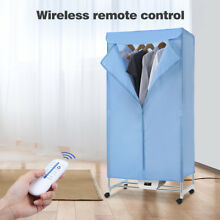 Electric Clothes Dryer Heater Wardrobe Portable Dry Machine Remote Control 120V