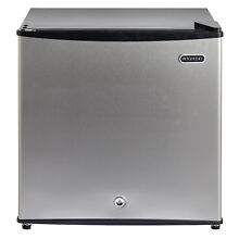 Small Stainless Steel 1 1CuFt Upright Freezer W  Lock Kitchen Fridge Appliance