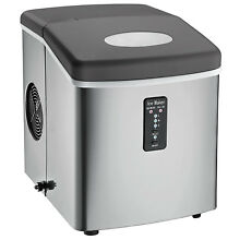 Counter Top Ice Maker 26CuFt Cube Bucket Stainless Steel Kitchen Portable 120V