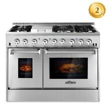 Home 48  Gas Range Dual Fuel 6 Burner Double Electric Oven 2 Year Warranty R8S1