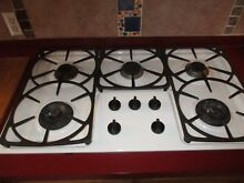 Miele gas cooktop 36 inch  white porcelain