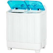 Portable Washing Machine Mini Compact Twin Tub Electric Wash Laundry Spin Dry