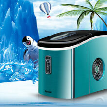 220V Commercial Ice Maker Portable Clear Cube Ice Machine For Restaurant Home  B
