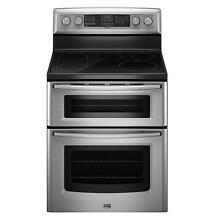 Maytag MET8775XS 30  Freestanding Electric Double Oven Range NIB T2  9514