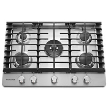 KitchenAid KCGS550ESS 30  Stainless Gas Cooktop 5 Burners NOB  22088