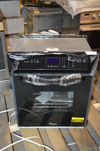 Whirlpool WOS11EM4EB 24  Black Single Electric Wall Oven NOB  22093