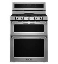 KitchenAid KFGD500ESS 30  Stainless Double Oven Gas Range NOB T2  22479 CLW