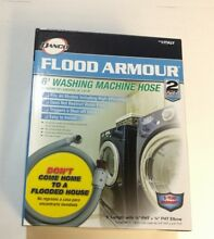 Danco 10763 Flood Armour Washing Machine H C Hoses 6 3 4  FHT x 3 4  FHT Elbow