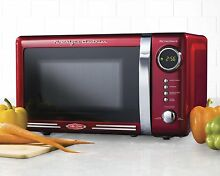Red Microwave Oven 700W Counter Top LED Display Rotating Glass 120V  7CuFt New