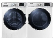 Samsung 30  5 6 Cu Ft  Front Load Washer and 30  9 5 Cu Ft  Gas Dryer
