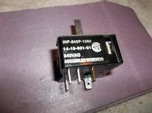 Thermador CCV36  Burner Switch 14 19 801 01  inf 240P 1062  414601  00414601