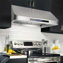 30 Inch Range Hood Under Cabinet Stainless Steel Remote Control 900 CFM Ducted