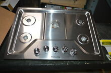 KitchenAid KCGS350ESS 30  Stainless Gas 5 Burner Cooktop  23124