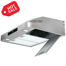 30  Touch Under Cabinet Stainless Steel Range Hood Kitchen Stove Vent Cook Fan